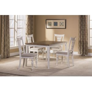 Hillsdale - Bayberry / Embassy 5-Piece Rectangle Dining Set - White  - 5753DTBRC