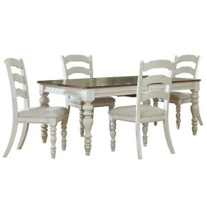 Hillsdale - Pine Island 5 Pc Dining Set With Ladder Back Chairs - 5265DTBRCL