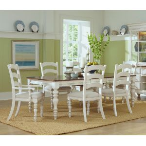 Hillsdale - Pine Island 7 Pc Dining Set With Ladder Back Chairs - 5265DTBRCL7