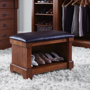Homestyles Furniture - Aspen Brown Storage Bench - 5520-27