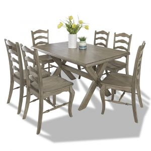 Homestyles - Mountain Lodge Gray 7 Piece Dining Set - 5525-318