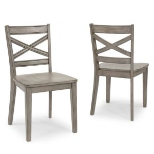 Homestyles - Mountain Lodge Gray Chair (Set of 2) - 5525-80
