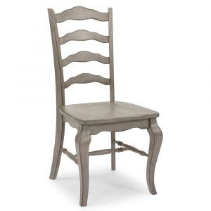Homestyles - Mountain Lodge Gray Chair with X back frame (Set of 2) - 5525-81