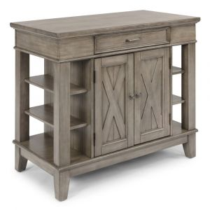 Homestyles - Mountain Lodge Gray Kitchen Island with 2 doors - 5525-93
