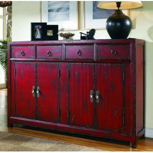 Hooker Furniture - 58'' Red Asian Cabinet - 500-50-711