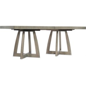 Hooker Furniture - Affinity 78in Rectangle Pedestal Dining Table w/2-18in Leaves - 6050-75206-GRY