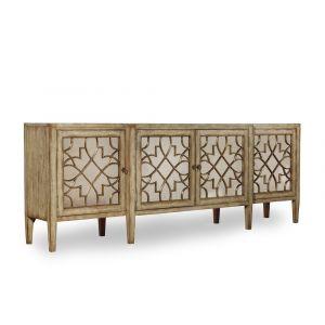 Hooker Furniture - Sanctuary Four-Door Mirrored Console - Surf-Visage - 3013-85001