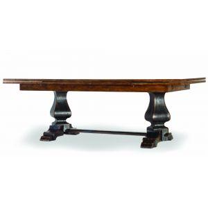 Hooker Furniture - Sanctuary Refectory Table - Ebony & Drift - 3005-75207