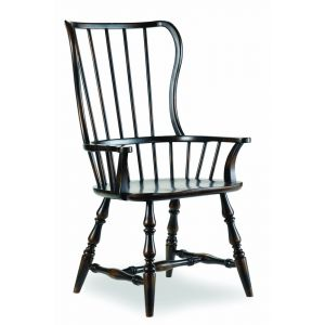 Hooker Furniture - Sanctuary Spindle Arm Chair-Ebony - 3005-75300