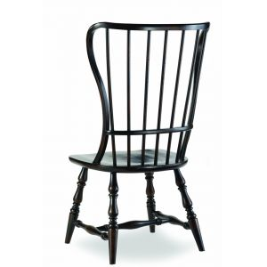 Hooker Furniture - Sanctuary Spindle Side Chair-Ebony - 3005-75310
