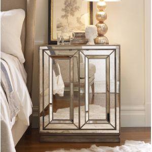 Hooker Furniture - Sanctuary Two-Door Mirrored Nightstand - Visage - 3014-90015