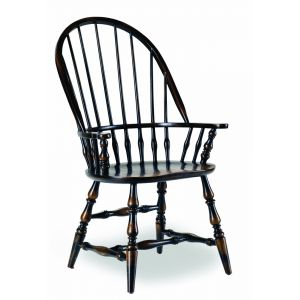 Hooker Furniture - Sanctuary Windsor Arm Chair-Ebony - 3005-75320