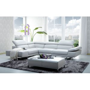 J&M Furniture - 1717 Italian Leather Sectional Left Hand Facing - 178571-LHFC