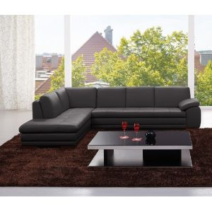 J&M Furniture - 625 Italian Leather Sectional Grey in Left Hand Facing - 1754431131-LHFC