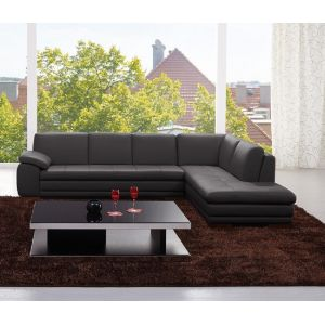 J&M Furniture - 625 Italian Leather Sectional Grey in Right Hand Facing - 1754431131-RHFC
