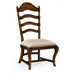 Jonathan Charles Fine Furniture - Artisan Rustic Walnut Dining Side Chair Upholstered in Mazo - 495293-SC-RWL-F001