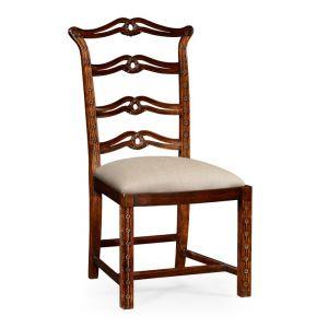 Jonathan Charles Fine Furniture - Buckingham Chippendale Style Mahogany Pierced Back Dining Side Chair - 492468-SC-MAH-F001
