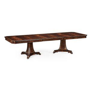 Jonathan Charles Fine Furniture - Buckingham Curved Pedestal Extending Dining Table - 493380-92L-MAH
