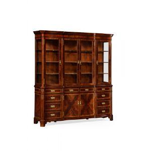 Jonathan Charles Fine Furniture - Buckingham Serpentine Architrave Mahogany China Cabinet - 493126-MAH
