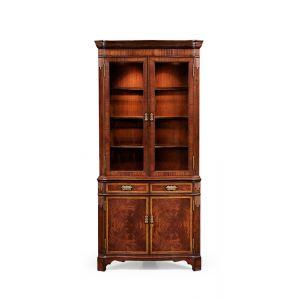 Jonathan Charles Fine Furniture - Buckingham Serpentine Mahogany Corner Cabinet - 493565-MAH
