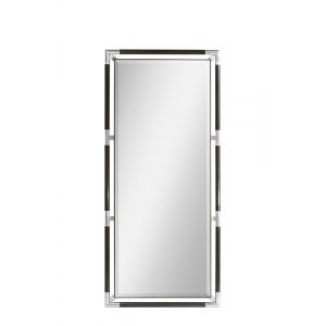 Jonathan Charles Fine Furniture - Campaign Style Charcoal Floor Standing Mirror - 500237-CHW