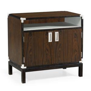 Jonathan Charles Fine Furniture - Campaign Style Dark Santos Rosewood Bedside Cabinet - 500238-SAD
