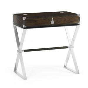 Jonathan Charles Fine Furniture - Campaign Style Dark Santos Rosewood Flip-Top Desk - 500246-SAD