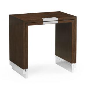 Jonathan Charles Fine Furniture - Campaign Style Dark Santos Rosewood Sliding Nesting Tables - 500201-SAD