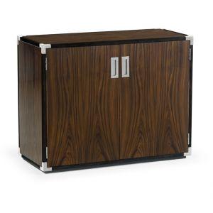 Jonathan Charles Fine Furniture - Campaign Style Dark Santos Rosewood Storage Cabinet - 500235-SAD