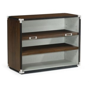 Jonathan Charles Fine Furniture - Campaign Style Dark Santos Rosewood Adjustable Storage Cabinet - 500236-SAD