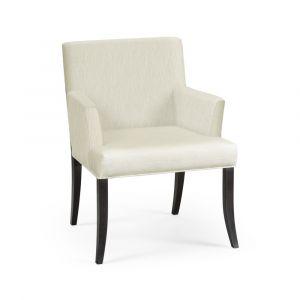 Jonathan Charles Fine Furniture - Geometric - Casual Transitional Black Mocha Oak Dining Armchair - 500289-AC-MAO-F300