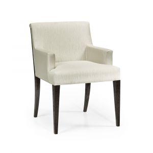 Jonathan Charles Fine Furniture - Geometric - Casual Transitional Dark Mocha Oak Dining Armchair - 500341-AC-DMO-F300