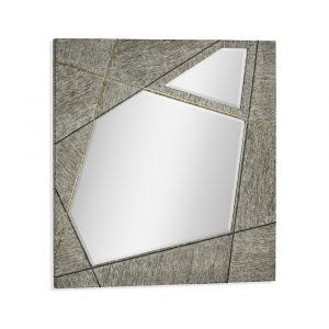 Jonathan Charles Fine Furniture - Geometric - Casual Transitional Square Dark French Oak Hanging Mirror - 500281-DFO