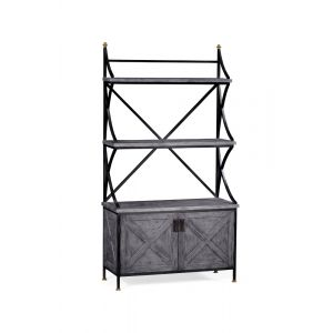 Jonathan Charles Fine Furniture - Casually Country Antique Grey Baker's Rack Etagere - 491096-ADG
