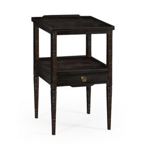 Jonathan Charles Fine Furniture - Casually Country Dark Ale Square Lamp Table with Drawer - 491023-PDA