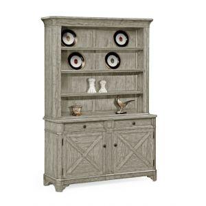 Jonathan Charles Fine Furniture - Casually Country Rustic Grey China Cabinet - 491070-RGA