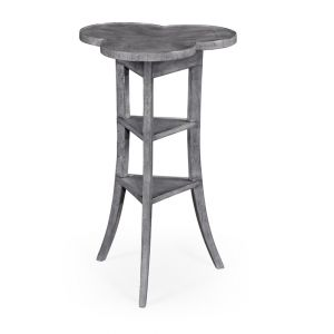 Jonathan Charles Fine Furniture - Casually Country Trefoil Side Table in Antique Dark Grey - 491037-ADG