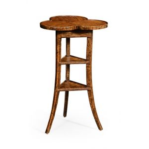 Jonathan Charles Fine Furniture - Casually Country Trefoil Side Table in Country Walnut - 491037-CFW