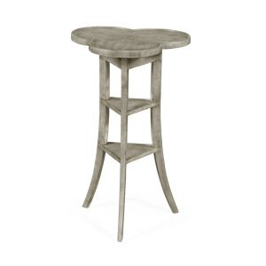 Jonathan Charles Fine Furniture - Casually Country Trefoil Side Table with Rustic Grey - 491037-RGA