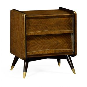 Jonathan Charles Fine Furniture - Cosmo Hyedua Mid-Century Bedside Chest of Drawers - 495580-DLF