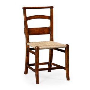Jonathan Charles Fine Furniture - Country Farmhouse Rustic Walnut Church Side Chair - 494546-SC-WAL