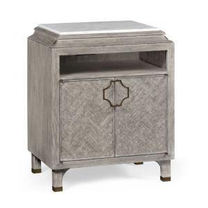 Jonathan Charles Fine Furniture - Eclectic Greyed Oak Nightstand - 500065-GYO