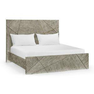 Jonathan Charles Fine Furniture - Geometric Casual Transitional Dark French Oak US King Bed - 500277-USK-DFO