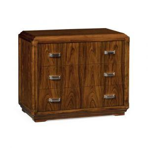 Jonathan Charles Fine Furniture - Churchman - Modern High Lustre Santos Rosewood Bedside Chest - 540019-SAH