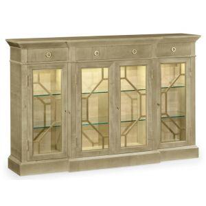 Jonathan Charles Fine Furniture - Opera Champagne Four-Door Display Cabinet - 495415-GSH