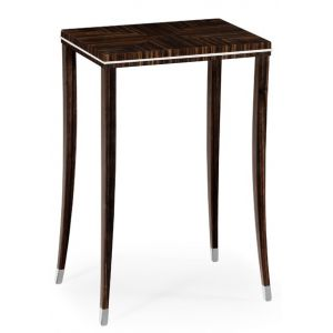 Jonathan Charles Fine Furniture - Soho Macassar Ebony Lamp Table with White Brass Detail - 495150-AMA