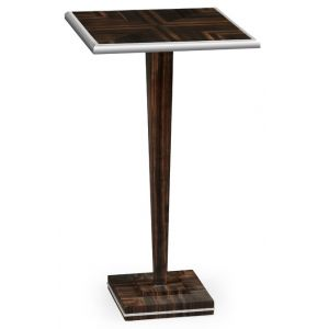 Jonathan Charles Fine Furniture - Soho Macassar Ebony Martini Table with White Brass Detail - 495193-AMA
