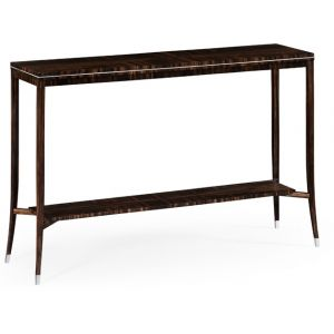 Jonathan Charles Fine Furniture - Soho Macassar Ebony Narrow Console Table with White Brass Detail - 495186-AMA