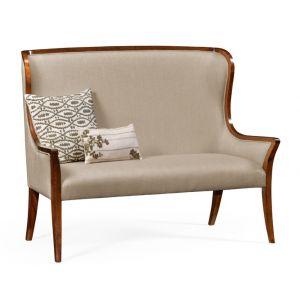 Jonathan Charles Fine Furniture - Windsor High Curved Back Settee Upholstered in Mazo - 494352-WAL-F001