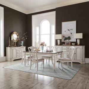 Liberty Furniture - Abbey Road 5 Piece Rectangular Table Set - 455W-DR-5RLS